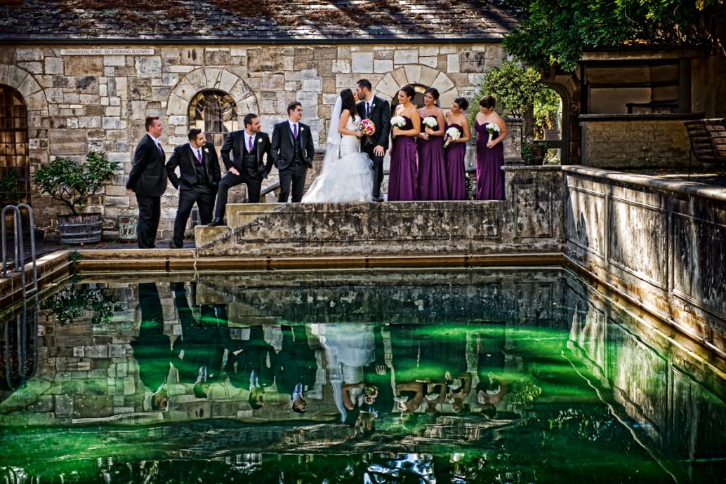 beautiful wedding in Montsalvat